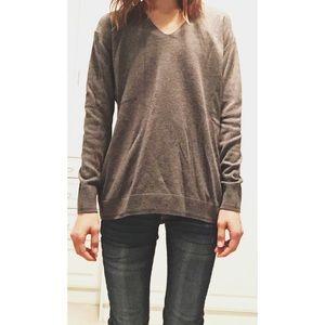 Long V-Neck Sweater